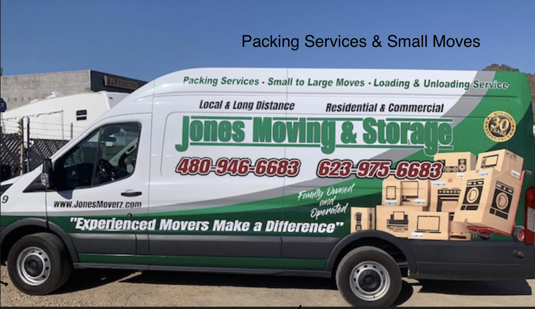 pack van and small moves