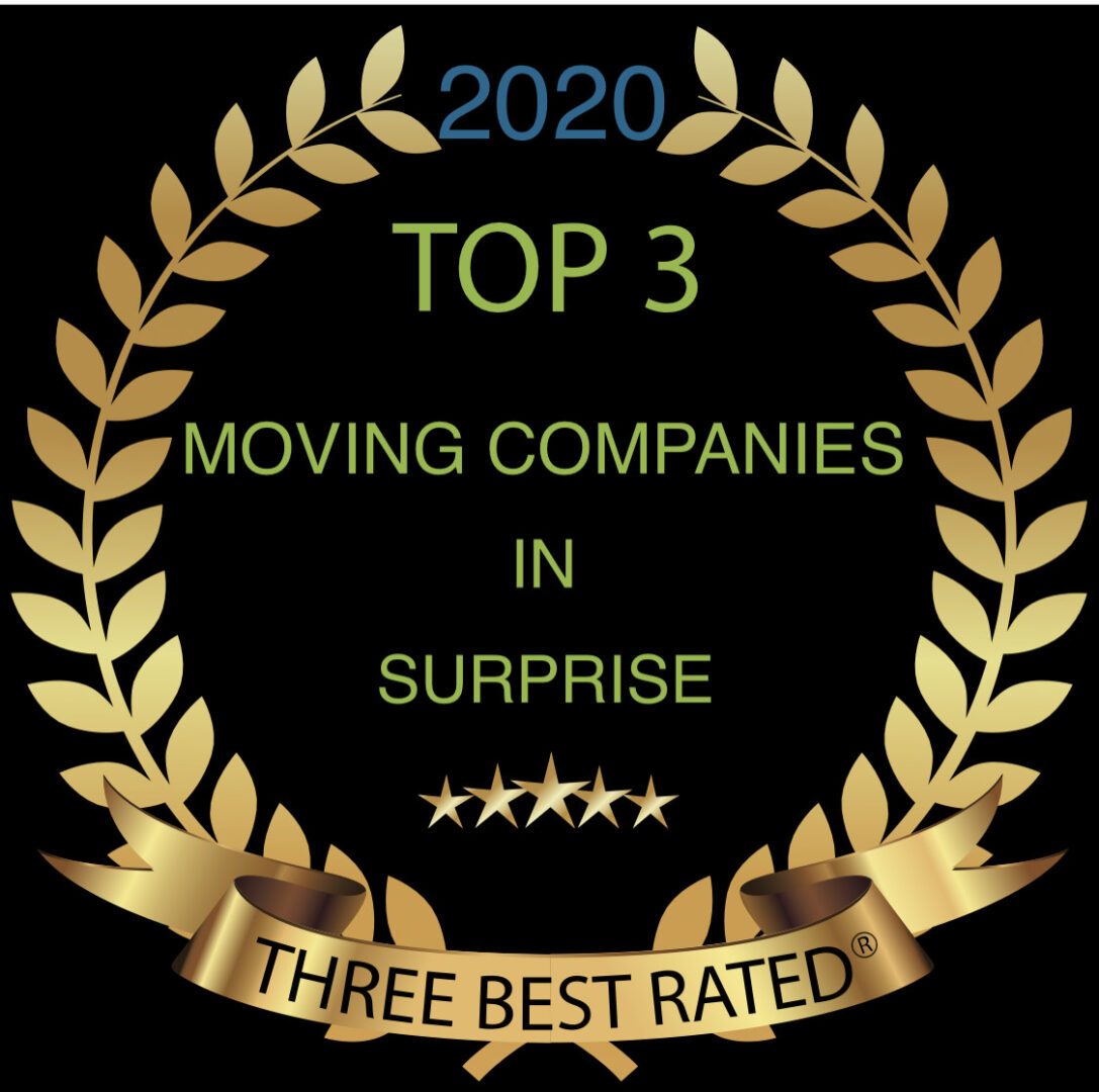 top 3 moving companies in surprise 2020 graphic
