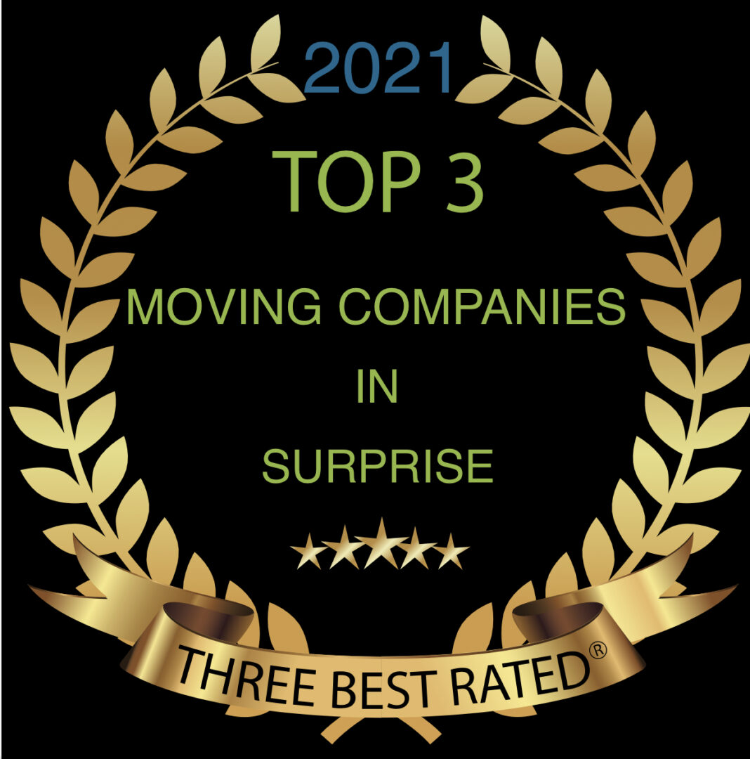 top 3 moving companies in surprise 2021 graphic